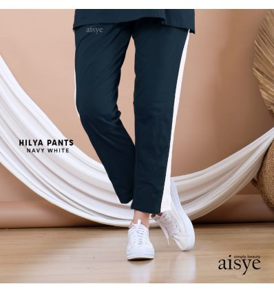 Aisye - Hilya Pants Navy White