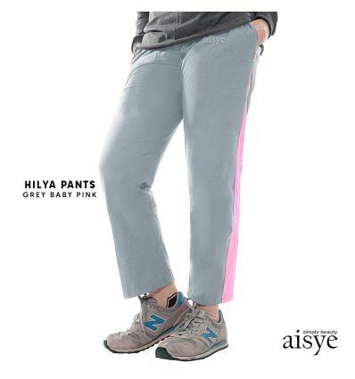 Aisye - Hilya Pants Grey Baby Pink