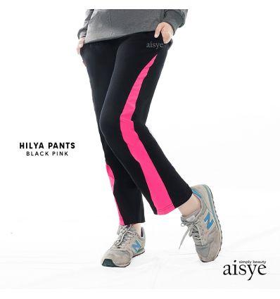 Aisye - Hilya Pants Black Pink