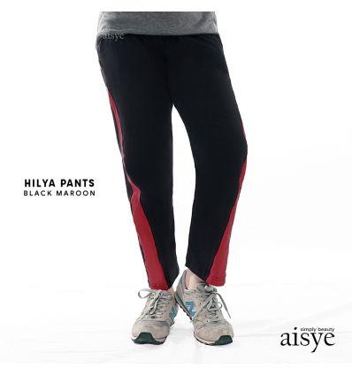Aisye - Hilya Pants Black Maroon