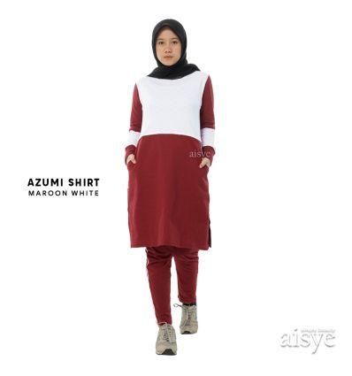 Aisye - Azumi Shirt Maroon White