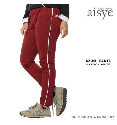 Aisye - Azumi Pants Maroon White