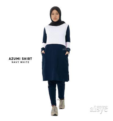 Aisye - Azumi Shirt Navy White