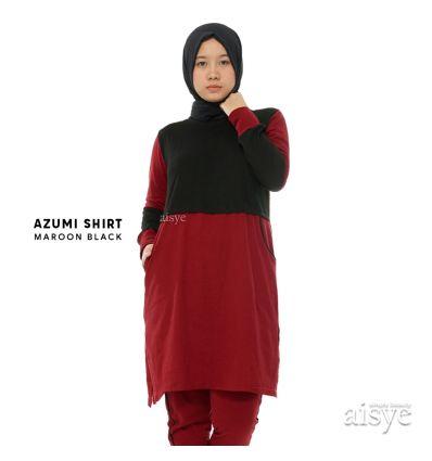 Aisye - Azumi Shirt Maroon Black