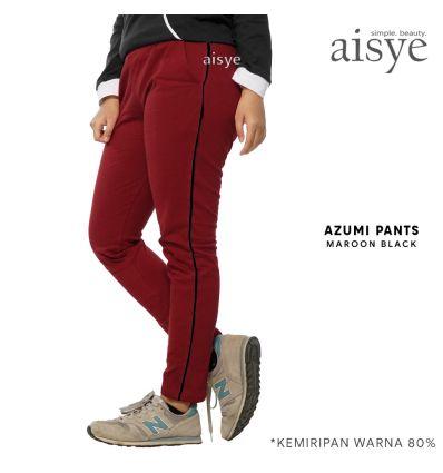 Aisye - Azumi Pants Maroon Black