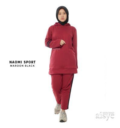 Aisye - Naomi Sport Maroon Black