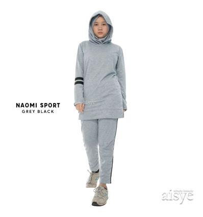 Aisye - Naomi Hoodie Sport Grey Black