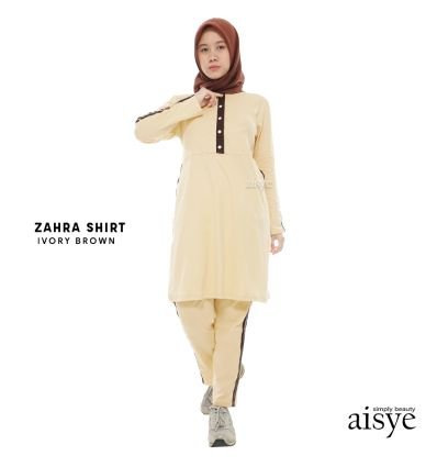 Aisye - Zahra Shirt Ivory Brown