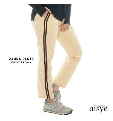 Aisye - Zahra Pants Ivory Brown