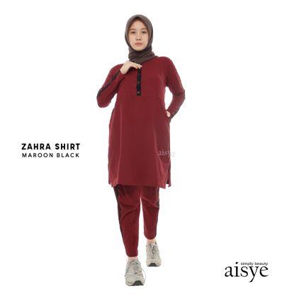 Aisye - Zahra Shirt Maroon Black