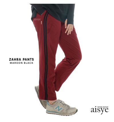 Aisye - Zahra Pants Maroon Black