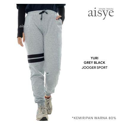 Aisye - Yuri Grey Black Jogger Sport
