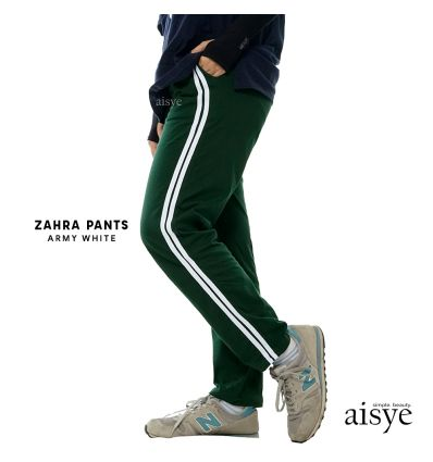 Aisye - Zahra Pants Army White