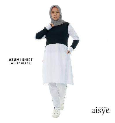 Aisye - Azumi Shirt White Black