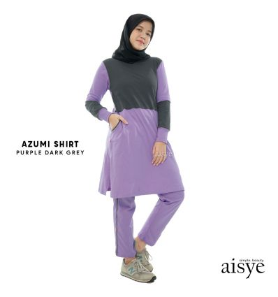 Aisye - Azumi Shirt Purple Grey