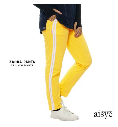 Aisye - Zahra Pants Yellow White