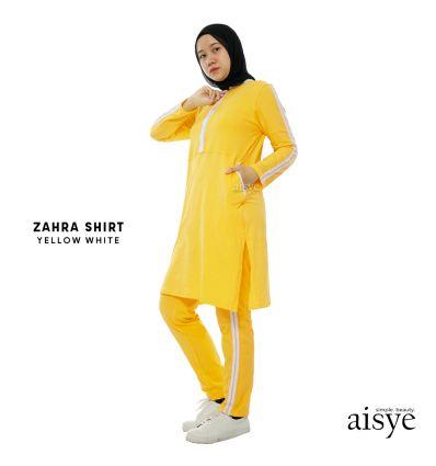Aisye - Zahra Shirt Yellow White