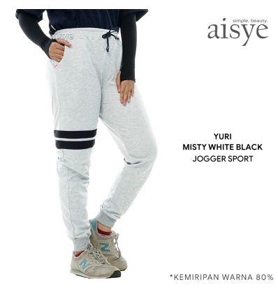 Aisye - Yuri White Misty Jogger Sport