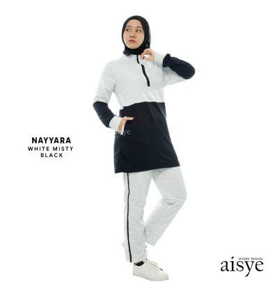 Aisye - Nayyara Sports White Misty Black