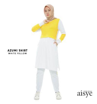 Aisye - Azumi Shirt White Yellow