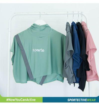 Sporte - Kerudung SH05 Green list Grey