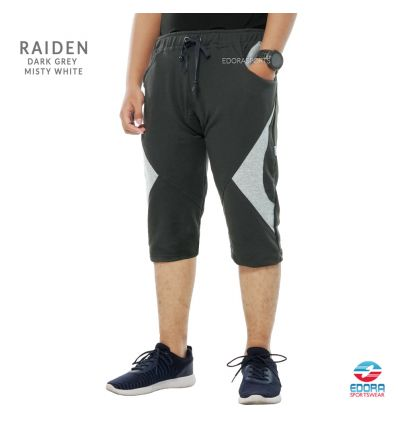 Edorasports - Bicycle Pants Raiden Dark Grey Misty White