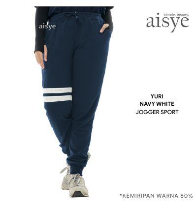 Aisye - Yuri Navy White Jogger Sport