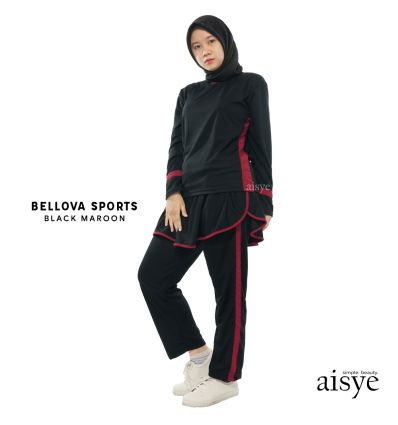 Aisye - Bellova sports Black Maroon