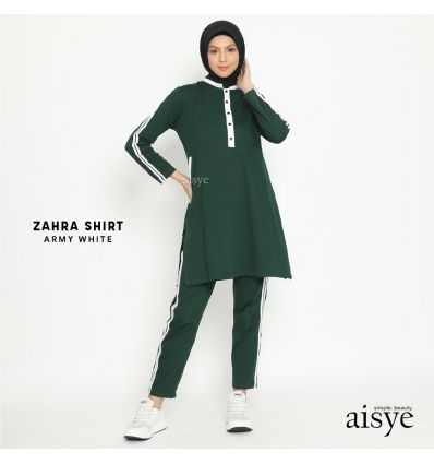 Aisye - Zahra Shirt Army White