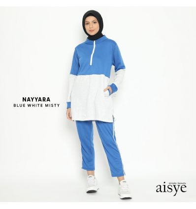 Aisye - Nayyara Sports Blue White Misty