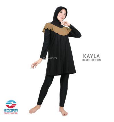 Baju Renang muslimah Edora Kayla Black Brown
