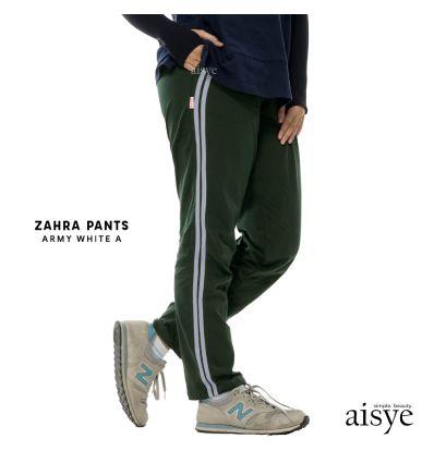 Aisye - Zahra Pants Army White A