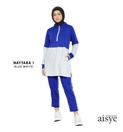Aisye - Nayyara I Sports Blue White Misty