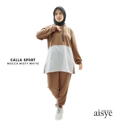 Aisye - CALLA Hoodie Sport Mocca Misty White